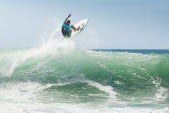 De opleiding van Surfer vóór de concurrentie Royalty-vrije Stock Afbeeldingen