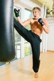 De Opleiding van vechtsporten Stock Foto's