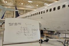 De opleidingsfaciliteit van vliegtuigen Royalty-vrije Stock Afbeelding