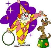De opleidingshond van de clown Royalty-vrije Stock Foto