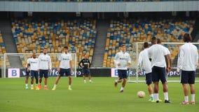 De opleidingssessie van FC Internazionale stock video
