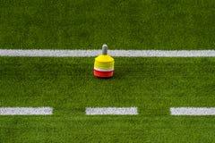 De Opleidingssessie van de voetbalvoetbal Opleidingsvoetbal op de Hoogte stock afbeeldingen
