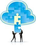 De Oplossing van de Gegevensverwerking van de wolk Stock Afbeelding