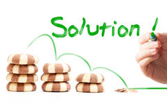 De oplossing van het gewichtsverlies stock afbeelding