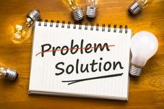 De oplossing van het probleem Stock Foto