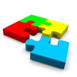 De oplossingsconcept van het raadsel stock illustratie