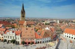 De opnieuw gevormde kerk in Sibiu, Roemenië royalty-vrije stock fotografie