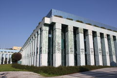 De opperst hofbouw in Warshau (Polen) Stock Afbeeldingen