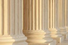 De opperste Marmeren Mening van het Detail van Kolommen Courty stock foto