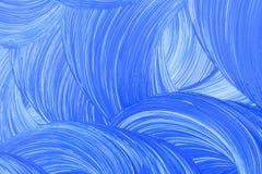 De oppervlakte schilderde blauwe verf stock afbeeldingen