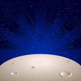 De oppervlakte van de maan Stock Afbeeldingen