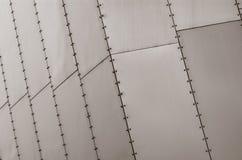 De oppervlakte van de metaalplaat Stock Afbeeldingen