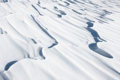 De oppervlakte van de sneeuw Royalty-vrije Stock Foto's