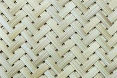 De oppervlakte van het bamboeweefsel Stock Fotografie