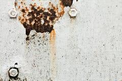 De oppervlakte van het metaal met klinknagels Royalty-vrije Stock Fotografie