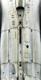 De oppervlakte van het vliegtuigenmetaal met aluminium en klinknagels Royalty-vrije Stock Afbeeldingen