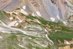 De Oppervlakte van hoge Hoogtebergen stock afbeelding