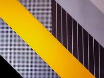 De oppervlakte van de muur is gevormd en kleurrijk abstracte achtergrond stock afbeelding