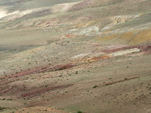 De oppervlakte van steppe in verschillende schaduwen, textuur Royalty-vrije Stock Afbeeldingen