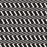 De oppervlakte van zigzaglijnen Scherp strepen naadloos patroon Vectorontwerp met golven Het herhaalde ornament van het chevronsb vector illustratie