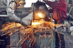 De oppoetsende workshop van de fabriek stock afbeelding