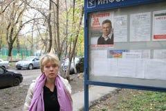 De oppositiekandidaat voor burgemeester van Khimki Stock Foto