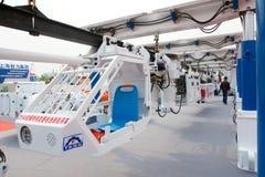 De opschortingskarretje van de monorail Stock Foto's