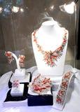 De opslag show-venster van juwelen Stock Fotografie