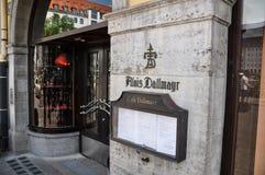 De Opslag van Alois Dallmayr Coffee en van het Voedsel - München, Duitsland Royalty-vrije Stock Foto's