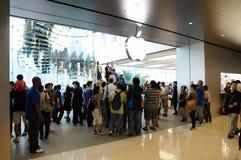De opslag van de appel in Hongkong Royalty-vrije Stock Foto