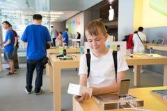 De opslag van de appel in Hongkong Stock Fotografie