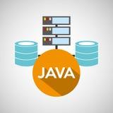 De opslag van de de taaldatabase van Java royalty-vrije illustratie