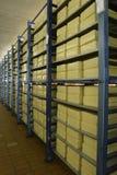 De opslag van de kaas in zuivelfabriek royalty-vrije stock foto