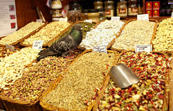 De opslag van de kruidenierswinkel met duif Royalty-vrije Stock Afbeeldingen