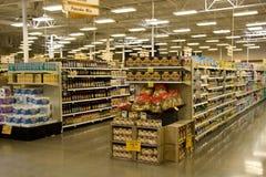 De opslag van de supermarktkruidenierswinkel Stock Foto