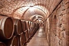 De opslag van de wijn Stock Afbeeldingen