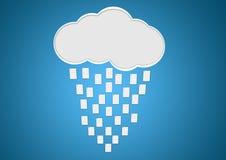 De opslag van de wolk Stock Afbeelding