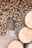 De Opslag van het brandhout Royalty-vrije Stock Afbeeldingen