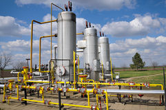 De opslag van het gas en pijpleiding royalty-vrije stock afbeelding