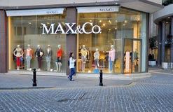 De opslag van het Max&Covlaggeschip in Sliema Stock Foto's
