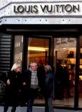 De Opslag van Louis Vuitton Stock Fotografie