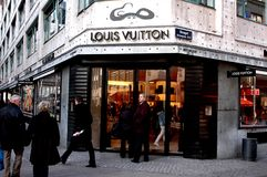 De Opslag van Louis Vuitton Royalty-vrije Stock Foto's