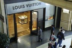 De opslag van Louis Vuitton in het theater van Kodak Stock Foto