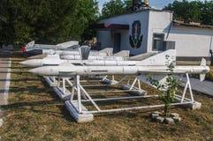 De opslag van raketten en bommen stock fotografie