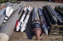 De opslag van raketten en bommen stock foto's