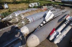 De opslag van raketten en bommen royalty-vrije stock fotografie