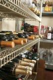 De opslag van wijnen Stock Foto's