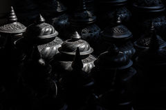 De opslag van zwart kleiaardewerk Stock Afbeelding