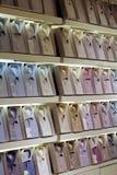 De opslaginzameling van kleren stock fotografie
