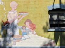 De opslagmuurschildering van de binnenstad Royalty-vrije Stock Fotografie